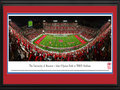 Picture: Houston Cougars John O'Quinn Field at TDECU Stadium 13 X 40 panoramic print professionally double matted in team colors and framed to 18 X 44. This panorama, taken by James Blakeway, captures one of the most anticipated football seasons at the University of Houston, as the Cougar�s commemorate their season opener at the new on-campus, state-of-the-art TDECU Stadium. Construction of the new structure began on December 3, 2012, and was built on the former site of Robertson Stadium. The continuous bowled stadium seats 40,000 fans and includes 26 suites and 42 loge boxes among its several premium seating options. The John O�Quinn Field designed for the new stadium, includes alternating dark green/light green pattern and features a silhouette of the downtown Houston skyline on one end and the Cougar logo on the other.