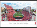 Picture: 2014 Maryland Terrapins Capital One Field at Byrd Stadium 13 X 40 panoramic print professionally framed to 13.75 X 40.25. This panorama, taken by James Blakeway, features the University of Maryland Terrapins in their Big Ten home opener against Ohio State. The Terps play their home games at Capital One Field at Byrd Stadium in College Park, Maryland. The stadium is named after Dr. H.C. Byrd, who in his 43-year career with Maryland served as the Terrapins� head football coach, athletics director and University president. Since opening on September 30, 1950, Byrd Stadium has undergone a number of major facelifts, resulting in a state-of-the-art facility with seating capacity for 51,852 fans.