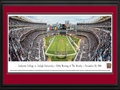Picture: Lafayette Leopards vs.Lehigh Yankee Stadium 13 X 40 panoramic print professionally double matted in Lafayette team colors and framed to 18 X 44. This panorama, taken by James Blakeway, celebrates the 150th matchup of the historic rivalry between the Lafayette Leopards and Lehigh. Dating back to 1884, Lafayette and Lehigh have faced off on the gridiron more than any other college football teams in the country. Lafayette College and Lehigh University, two Division I schools located 16 miles apart in eastern Pennsylvania, began dueling one year after standardized football rules were instituted in the U.S. While much has changed since then, including the shape of the football, the invention of the helmet and even the forward pass, the Rivalry is still the most played and longest continuous rivalry in college football.