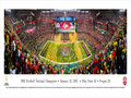 Picture: Ohio State Buckeyes 13.5 X 40 National Championship Stadium Panoramic Poster. This panorama, taken by Christopher Gjevre, spotlights the celebration of a new era and the biggest college football game of the year, the 1st annual College Football Championship Game, between the two top ranked teams of the 2014 season � the Ohio State Buckeyes and the Oregon Ducks. No stranger to adversity, the Buckeyes completed a remarkable in-season turnaround (14-1) and began the first major college football playoff as an underdog, the fourth and final seed, yet, became the truest champion big-time football has ever crowned. With this win, Ohio State captured the night, made history and claimed their eighth national title; soundly ending the year-long debate to determine the best team in the 2014 college football season.