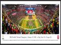 Picture: Ohio State Buckeyes 13.5 X 40 National Championship Stadium Panoramic Poster professionally framed to 13.75 X 40.25 and ready to hang on your wall as is! An awesome gift to that huge Buckeye fan. This panorama, taken by Christopher Gjevre, spotlights the celebration of a new era and the biggest college football game of the year, the 1st annual College Football Championship Game, between the two top ranked teams of the 2014 season � the Ohio State Buckeyes and the Oregon Ducks. No stranger to adversity, the Buckeyes completed a remarkable in-season turnaround (14-1) and began the first major college football playoff as an underdog, the fourth and final seed, yet, became the truest champion big-time football has ever crowned. With this win, Ohio State captured the night, made history and claimed their eighth national title; soundly ending the year-long debate to determine the best team in the 2014 college football season.