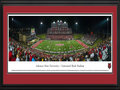 Picture: Just out from the 2015 season is a panoramic of the Arkansas State Red Wolves and Centennial Bank Stadium professionally double matted in team colors and framed to 18 X 44. This panorama features Arkansas State University football team playing their home opener and celebrating over 100 years of football at the recently renovated Centennial Bank Stadium. The stadium additions included a new and expanded press box, as a result of a surge of enthusiasm for the Red Wolves� football program. They achieved remarkable success from 2011-2014, which included three conference championships, four bowl games and two 10-win seasons. This four year period resulted in 35 wins for A-State. Centennial Bank Stadium is located on the campus of Arkansas State University in Jonesboro, Arkansas.