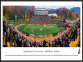 Picture: Just out from the 2015 season is the latest 13.5 X 40 panoramic poster of the Appalachian State Mountaineers and Kidd Brewer Stadium professionally framed to 13.75 X 40.25. This panorama, taken by Christopher Gjevre, spotlights the Appalachian State Mountaineers taking on a Sun Belt Conference opponent at Kidd Brewer Stadium during the popular Family Weekend. Since opening in 1962, Kidd Brewer Stadium, aka The Rock, stakes its claim as being one of the toughest venues in the nation for visiting teams to leave with a victory. The fans that fill the seats are also an essential component to providing the Mountaineers with a home-field advantage. Since 2005, the average attendance for a regular season game has come in at 117 percent of the Stadium�s average official seating capacity.