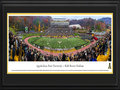 Picture: Just out from the 2015 season is the latest panoramic poster of the Appalachian State Mountaineers and Kidd Brewer Stadium professionally double matted in team colors and framed to 18 X 44. This panorama, taken by Christopher Gjevre, spotlights the Appalachian State Mountaineers taking on a Sun Belt Conference opponent at Kidd Brewer Stadium during the popular Family Weekend. Since opening in 1962, Kidd Brewer Stadium, aka The Rock, stakes its claim as being one of the toughest venues in the nation for visiting teams to leave with a victory. The fans that fill the seats are also an essential component to providing the Mountaineers with a home-field advantage. Since 2005, the average attendance for a regular season game has come in at 117 percent of the Stadium�s average official seating capacity.