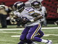 Picture: Adrian Peterson takes the handoff from Teddy Bridgewater of the Minnesota Vikings 16 X 20 poster. We are the copyright holders of this image.