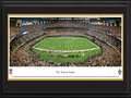 "Picture: This 13.5 X 40 panorama of the New Orleans Saints playing at the Louisiana Superdome is professionally double matted in team colors and framed to 18 X 44. The Saints were admitted into the NFL on November 1, 1966, the Roman Catholic holiday known as All Saints Day. Based on their birth day into the NFL, the club's ownership felt it fitting to name them the ""Saints."" Their colors, black and gold, came about as a salute to the city's long-standing ties to the oil industry. In 2005, Hurricane Katrina prevented the Saints from playing a single regular season game in their home city of New Orleans. One of only four teams to win in their first Super Bowl appearance, the Saints were victorious in Super Bowl XLIV. From the NFL Stadiums collection."