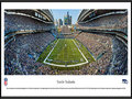 Picture: This panorama has been professionally framed to 13.75 X 40.25. It underscores the on-field action of the Seattle Seahawks playing to their home crowd. In 1976, Seattle fans received their own professional football team. As the Seahawks strengthened their young franchise, their loud, sold out crowds became known as the 12th MAN®. In the 1980's, Seattle fans had such an impact on the success of the team that Seahawks' President Mike McCormack retired the number 12 on December 15, 1984. In 2005, the 12th MAN made a difference in helping the Seahawks win their first-ever NFC Championship and set a single-season attendance record. Today, before every home game kickoff, a flag is raised in honor of the 12th MAN. From the NFL Stadiums collection.