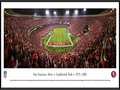 Picture: This panorama has been professionally framed to 13.75 X 40.25. It commemorates the San Francisco 49ers final touchdown at their very last regular season game against Atlanta, marking the end of Candlestick Park�s sporting history. Leaving the home crowd with a thrilling memory of the old stadium, in the final few minutes of the game the 49ers intercepted a pass deep in their own territory and returned it 89 yards for a touchdown, sealing the victory and clinching a playoff berth. The final score was San Francisco 34, Atlanta 24. The 49ers called Candlestick Park home from 1971-2013, recording a 225-121-2 combined record in the building. From the NFL Stadiums collection.