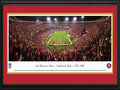 Picture: This 13.5 X 40 panorama has been professionally double matted and framed to 18 X 44. It commemorates the San Francisco 49ers final touchdown at their very last regular season game against Atlanta, marking the end of Candlestick Park�s sporting history. Leaving the home crowd with a thrilling memory of the old stadium, in the final few minutes of the game the 49ers intercepted a pass deep in their own territory and returned it 89 yards for a touchdown, sealing the victory and clinching a playoff berth. The final score was San Francisco 34, Atlanta 24. The 49ers called Candlestick Park home from 1971-2013, recording a 225-121-2 combined record in the building. From the NFL Stadiums collection.
