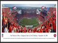 Picture: This panorama has been professionally framed to 13.75 X 40.25. It commemorates the kickoff of the San Francisco 49ers first regular season game on September 14, 2014, at their new home - Levi�s Stadium. This highly anticipated event sets the stage for the 49ers next generation of tradition and glory in one of the world�s best outdoor sports and entertainment venues. The 1.85 million square feet Levi�s® Stadium will be a multi-purpose facility with the flexibility to host a wide range of events, including domestic and international soccer, college football, motocross, concerts and various civic events, and will be expandable for major events like Super Bowl 50 in February 2016. From the NFL Stadiums collection