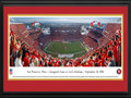 Picture: This 13.5 X 40 panorama has been professionally double matted in team colors and framed to 18 X 44. It commemorates the kickoff of the San Francisco 49ers first regular season game on September 14, 2014, at their new home - Levi�s® Stadium. This highly anticipated event sets the stage for the 49ers next generation of tradition and glory in one of the world�s best outdoor sports and entertainment venues. The 1.85 million square feet Levi�s Stadium will be a multi-purpose facility with the flexibility to host a wide range of events, including domestic and international soccer, college football, motocross, concerts and various civic events, and will be expandable for major events like Super Bowl 50 in February 2016. From the NFL Stadiums collection