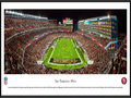 Picture: This panorama has been professionally framed to 13.75 X 40.25. It captures the San Francisco 49ers playing their season opener against the Minnesota Vikings. A capacity crowd at Levi�s Stadium celebrates the start of another season of 49ers football. A special #49ersRGB t-shirt, provided to all game ticket holders, creates a thrilling visual effect in the crowd, and celebrates the launch of an alternate team uniform. In their 65 years with the NFL, the 49ers have enjoyed one of the most glorious stories in league history. The club has launched the careers of several recent NFL Hall of Fame players, currently holds the record for the most NFC West championships, and has won five of six Super Bowl appearances. From the NFL Stadiums collection.