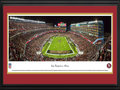 Picture: This 13.5 X 40 panorama has been professionally double matted in team colors and framed to 18 X 44. It captures the San Francisco 49ers playing their season opener against the Minnesota Vikings. A capacity crowd at Levi�s Stadium celebrates the start of another season of 49ers football. A special #49ersRGB t-shirt, provided to all game ticket holders, creates a thrilling visual effect in the crowd, and celebrates the launch of an alternate team uniform. In their 65 years with the NFL, the 49ers have enjoyed one of the most glorious stories in league history. The club has launched the careers of several recent NFL Hall of Fame players, currently holds the record for the most NFC West championships, and has won five of six Super Bowl appearances. From the NFL Stadiums collection.