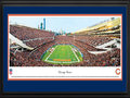 Picture: This 13.5 X 40 panorama of the Chicago Bears at Soldier Field has been professionally double matted in team colors and framed to 18 X 44. It captures the crowd excitement at Soldier Field. Originally named the Decatur Staleys, the club was founded by George Halas in 1920, renamed the Chicago Staleys in 1921 and then the Chicago Bears in 1922. The Bears have made their home at Soldier Field since 1971, which was named and serves as a memorial to American soldiers who have died in past wars. As a charter member of the NFL, the Bears have created a legacy in professional American football to include more victories than any other franchise, the most retired uniformed numbers and the most members in the Pro Football Hall of Fame. From the NFL Stadiums collection.