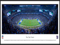 Picture: This panorama has been professionally framed to 13.75 X 40.25. It spotlights the battle between the New York Giants and the Washington Redskins at MetLife Stadium, in another chapter of one of the longest and most storied rivalries in professional football. The two clubs have been competing since 1932, with the Giants holding the upper hand in the head-to-head matchups. Most fans today recall the 1980s, as one of the most hotly contested periods between these clubs, when they combined to win seven NFC East titles, five Super Bowls and the 1986 NFC Championship game, with the Giants winning 17-0. The two clubs also hold the record for the highest combined scoring game in NFL history, putting 113 points on the scoreboard on November 27, 1966. From the NFL Stadiums collection.