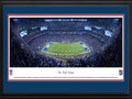 Picture: This 13.5 X 40 panorama has been professionally professionally double matted in team colors and framed to 18 X 44. It spotlights the battle between the New York Giants and the Washington Redskins at MetLife Stadium, in another chapter of one of the longest and most storied rivalries in professional football. The two clubs have been competing since 1932, with the Giants holding the upper hand in the head-to-head matchups. Most fans today recall the 1980s, as one of the most hotly contested periods between these clubs, when they combined to win seven NFC East titles, five Super Bowls and the 1986 NFC Championship game, with the Giants winning 17-0. The two clubs also hold the record for the highest combined scoring game in NFL history, putting 113 points on the scoreboard on November 27, 1966. From the NFL Stadiums collection