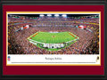 Picture: This 13.5 X 40 panorama has been professionally double matted in team colors and framed to 18 X 44. It captures the game-winning touchdown late in the fourth quarter as the Washington Redskins defeat their divisional rival, the New York Giants, on Monday Night Football at FedEx Field. The franchise, filled with rich history, talented alumni and strong traditions, celebrated its 80th anniversary in 2012. Since joining the NFL as the Boston Braves in 1932, the team won the NFL title in 1937 in its first season in Washington, and then added a second world championship in 1942. With multiple playoff appearances and three Super Bowl championships since the AFL-NFL merger, the Redskins are one of the NFL's most storied franchises. From the NFL Stadiums collection.