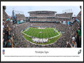 Picture: This panorama has been professionally framed to 13.75 X 40.25. It showcases the Philadelphia Eagles hosting an NFC East divisional opponent at their recently renovated home, Lincoln Financial Field. The stadium was christened at its inaugural game in September 2003. Eleven years and $125 million in renovations later, Eagles fans once again enjoy a state-of-the-art game day experience. The revitalization of the stadium featured a myriad of new and updated features, including new high-definition video and LED ribbon boards, an increased seating capacity to 69,176, bridges connecting the upper concourse and 1,185 new high-definition TVs installed throughout the stadium. From the NFL Stadiums collection.