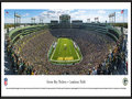 Picture: This panorama of the Green Bay Packers NFL football team at play has been professionally framed to 13.75 X 40.25. It spotlights the action at one of the most recognized and envied locales in all of sports, Lambeau Field. Dedicated as City Stadium in 1957 and renamed Lambeau Field in 1965, it is the longest continuously occupied stadium in the NFL. The Green Bay Packers were founded in 1919 and played their first two years as an independent team before joining the NFL in 1921. The �Packers,� the oldest team name still in use in the NFL, comes from the company that first supplied the team with uniform money, the Indian Packing Company. The Green Bay Packers have won more championships than any other team in the National Football League. From the NFL Stadiums collection.