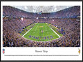 Picture: This panorama has been professionally framed to 13.75 X 40.25. It spotlights the Minnesota Vikings playing on their home turf at Mall of America Field at the Hubert H. Humphrey Metrodome. With the eyes of the nation on Minnesota, the Vikings did not disappoint and, on a last second field goal, went on to defeat their division rival, the Green Bay Packers, and solidify their position in the playoffs. From the very first game on August 5, 1961, the Minnesota Vikings have been among the National Football League's elite and have proved that winning is a big part of their makeup. Over the past half-century, the Vikings have consistently been at the top of their division. From the NFL Stadiums collection.