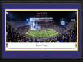 Picture: Minnesota Vikings Panoramic Picture - TCF Bank Stadium Panorama This 13.5 X 40 panorama of the Minnesota Vikings playing their final regular season game at TCF Bank Stadium on the campus of the University of Minnesota has been professionally double matted in team colors and framed to 18 X 44. The evening ended with a resounding victory for the Vikings and secured their spot in the 2015 season playoffs. They also earned the distinction of becoming one of only two teams in NFL history to have a winning season while playing at a temporary home. The Vikings shared the field with the Minnesota Gophers for two seasons, as the Vikings awaited completion of their new home, U.S. Bank Stadium. From the NFL Stadiums collection.