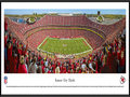 Picture: This panorama of the Kansas City Chiefs has been professionally framed to 13.75 X 40.25. It captures fan excitement at Arrowhead Stadium, as the Chiefs score a touchdown on their way to a victory over the Cleveland Browns. The Chiefs played their inaugural game at Arrowhead Stadium on August 12, 1972 and today Arrowhead has stood the test of time as one of the nation�s top venues for fans to experience the excitement of professional football. Founded in Dallas in 1960, the club relocated to Kansas City, Missouri, in 1963 and was renamed the Kansas City Chiefs. In 1969, the Chiefs became the only club in AFL history to win three AFL Championships. The Chiefs went on to victory in Super Bowl IV in January 1970. From the NFL Stadiums collection.