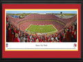 Picture: This 13.5 X 40 panorama of the Kansas City Chiefs has been professionally double matted in team colors and framed to 18 X 44. It captures fan excitement at Arrowhead Stadium, as the Chiefs score a touchdown on their way to a victory over the Cleveland Browns. The Chiefs played their inaugural game at Arrowhead Stadium on August 12, 1972 and today Arrowhead has stood the test of time as one of the nation�s top venues for fans to experience the excitement of professional football. Founded in Dallas in 1960, the club relocated to Kansas City, Missouri, in 1963 and was renamed the Kansas City Chiefs. In 1969, the Chiefs became the only club in AFL history to win three AFL Championships. The Chiefs went on to victory in Super Bowl IV in January 1970. From the NFL Stadiums collection.