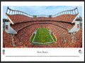 Picture: This panorama has been professionally framed to 13.75 X 40.25. It spotlights the excitement of the Denver Broncos kicking off another thrilling season of football at the venerable Sports Authority Field at Mile High Stadium. Known as the nation�s first truly regional sports franchise, the Broncos got their start as a charter member of the American Football League in 1960, and were the first major league team to call Denver their home. The long-standing relationship has produced a dedicated group of patrons. Known to all as �Broncomania�, the club�s loyal fan base has resulted in a record number of consecutive season sellouts and the highest local ratings for televised games of any NFL city in the country. From the NFL Stadiums collection.
