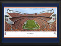 Picture: This 13.5 X 40 panorama has been professionally double matted in team colors and framed to 18 X 44. It spotlights the excitement of the Denver Broncos kicking off another thrilling season of football at the venerable Sports Authority Field at Mile High Stadium. Known as the nation�s first truly regional sports franchise, the Broncos got their start as a charter member of the American Football League in 1960, and were the first major league team to call Denver their home. The long-standing relationship has produced a dedicated group of patrons. Known to all as �Broncomania�, the club�s loyal fan base has resulted in a record number of consecutive season sellouts and the highest local ratings for televised games of any NFL city in the country. From the NFL Stadiums collection.