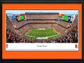 Picture: This 13.5 X 40 panorama has been professionally double matted in team colors and framed to 18 X 44. It spotlights the Cleveland Browns hosting the Baltimore Ravens at FirstEnergy Stadium in an AFC North matchup. The Browns joined the NFL in 1950 winning a championship in their inaugural year and advancing to the NFL championship six straight seasons after. Tradition is important to the Browns as they continue to play on the same site, on the shores of Lake Erie, since they were established in 1946. This is the site of Cleveland Municipal Stadium, where the Browns won all their league championships and hosted all their postseason games. From the NFL Stadiums collection.