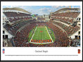 Picture: This panorama showcases a Cincinnati Bengals touchdown in front of their home crowd at Paul Brown Stadium and has been professionally framed to 13.75 X 40.25. The Cincinnati Bengals joined the American Football League as an expansion team in 1968. By 1970, under direction and guidance of legendary coach Paul Brown, the Bengals won the AFC Central Division to become the first expansion team to win a championship of any kind in just three years. In 1981, sporting a new look, the Cincinnati Bengals advanced to its first of two Super Bowl appearances. Paul Brown Stadium, home venue of the Cincinnati Bengals, is located in the heart of downtown Cincinnati, covers approximately 22 acres and seats 65,535 fans. From the NFL Stadiums collection.