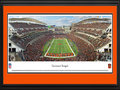 Picture: This 13.5 X 40 panorama showcases a Cincinnati Bengals touchdown in front of their home crowd at Paul Brown Stadium and has been professionally double matted in team colors and framed to 18 X 44. The Cincinnati Bengals joined the American Football League as an expansion team in 1968. By 1970, under direction and guidance of legendary coach Paul Brown, the Bengals won the AFC Central Division to become the first expansion team to win a championship of any kind in just three years. In 1981, sporting a new look, the Cincinnati Bengals advanced to its first of two Super Bowl appearances. Paul Brown Stadium, home venue of the Cincinnati Bengals, is located in the heart of downtown Cincinnati, covers approximately 22 acres and seats 65,535 fans. From the NFL Stadiums collection.