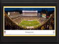 Picture: This 13.5 X 40 panorama features the Pittsburgh Steelers playing at Heinz Field and it has been professionally double matted in team colors and framed to 18 X 44. The fifth-oldest franchise in the NFL, the Pittsburgh club was founded in 1933, by Arthur Joseph Rooney, who laid the groundwork for a football dynasty. In 1940, the club�s name was changed to �Steelers� to represent the city�s dominant steel industry. The Steelers official Steelmark logo is based on the steel industry and features three diamond shapes, yellow for coal, orange for ore and blue for steel scrap. In 1978, the Steelers became the first NFL franchise to win three Super Bowls; in 1979, the first to win four; and in 2008, the first to win six. They are also the only NFL franchise to have won back-to-back Super Bowl�s twice. From the NFL Stadiums collection.