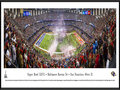 Picture: This panorama has been professionally framed to 13.75 X 40.25. It showcases the excitement of the evening, as the AFC Champion Baltimore Ravens and the NFC Champion San Francisco 49ers competed in the American football game of the year � Super Bowl XLVII. With a final score of Baltimore 34, San Francisco 31, the Ravens captured the franchise's second Super Bowl Championship. Experiencing great success since winning their first World Championship in 2000, the Ravens have made nine playoff appearances and also earned four AFC North division titles. Super Bowl XLVII marked the first time in NFL history that two brothers, Baltimore head coach John Harbaugh and San Francisco head coach Jim Harbaugh, coached against one another in a Super Bowl. From the NFL Stadiums collection.