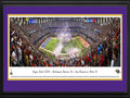 Picture: This 13.5 X 40 panorama has been professionally double matted in team colors and framed to 18 X 44. It showcases the excitement of the evening, as the AFC Champion Baltimore Ravens and the NFC Champion San Francisco 49ers competed in the American football game of the year � Super Bowl XLVII. With a final score of Baltimore 34, San Francisco 31, the Ravens captured the franchise's second Super Bowl Championship. Experiencing great success since winning their first World Championship in 2000, the Ravens have made nine playoff appearances and also earned four AFC North division titles. Super Bowl XLVII marked the first time in NFL history that two brothers, Baltimore head coach John Harbaugh and San Francisco head coach Jim Harbaugh, coached against one another in a Super Bowl. From the NFL Stadiums collection.