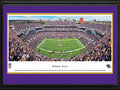 "Picture: This 13.5 X 40 panorama of the Baltimore Ravens playing for their home crowd at M&T Bank Stadium has been professionally double matted in team colors and framed to 18 X 44. Known for staging one of the NFL's most exciting gameday experiences, M&T Bank Stadium was completed in 1998 and has a seating capacity of 71,008. The Baltimore Ravens came into existence in 1996, and their name is a reference to the poem ""The Raven"" by Edgar Allan Poe, who lived and worked in Baltimore at various times during his life. The Ravens' championship history includes a victory in Super Bowl XXXV, in addition to multiple division titles and playoff berths. From the NFL Stadiums collection."