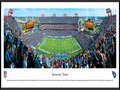 "Picture: This panoramic has been professionally framed to 13.75 X 40.25. It captures the Tennessee Titans playing on their home turf at LP Field. The Titans began playing at the stadium in 1999, and in their first season at the venue, they went undefeated at home and captured the AFC Championship on their way to Super Bowl XXXIV. One of the stadium's signature games also occurred during the inaugural campaign, a playoff contest dubbed ""The Music City Miracle,"" in which the Titans defeated the Buffalo Bills on a last-second kickoff return for a touchdown. From the NFL Stadiums collection."