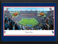 "Picture: This 13.5 X 40 panoramic has been professionally double matted in team colors and framed to 18 X 44. It captures the Tennessee Titans playing on their home turf at LP Field. The Titans began playing at the stadium in 1999, and in their first season at the venue, they went undefeated at home and captured the AFC Championship on their way to Super Bowl XXXIV. One of the stadium's signature games also occurred during the inaugural campaign, a playoff contest dubbed ""The Music City Miracle,"" in which the Titans defeated the Buffalo Bills on a last-second kickoff return for a touchdown. From the NFL Stadiums collection."