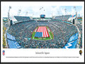 Picture: This panorama has been professionally framed to 13.75 X 40.25. It spotlights the opening ceremony as the Jacksonville Jaguars prepare for a home game at EverBank Field under owner Shad Khan. The Jaguars have enjoyed significant success since joining the NFL in 1995, when they won more games in their first season than any previous NFL expansion team. In their second season the Jaguars qualified for the playoffs � the first of four straight postseason appearances � and advanced to the AFC Championship game. Three seasons later, in 1999, the team hosted the AFC title game. In their short history, the Jaguars have won two division championships and have made six playoff appearances. From the NFL Stadiums collection.