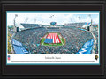 Picture: This 13.5 X 40 panorama has been professionally double matted in team colors and framed to 18 X 44. It spotlights the opening ceremony as the Jacksonville Jaguars prepare for a home game at EverBank Field under owner Shad Khan. The Jaguars have enjoyed significant success since joining the NFL in 1995, when they won more games in their first season than any previous NFL expansion team. In their second season the Jaguars qualified for the playoffs � the first of four straight postseason appearances � and advanced to the AFC Championship game. Three seasons later, in 1999, the team hosted the AFC title game. In their short history, the Jaguars have won two division championships and have made six playoff appearances. From the NFL Stadiums collection.