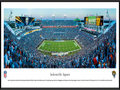 Picture: This panorama has been professionally framed to 13.75 X 40.25. It captures a Florida football showdown between the Jacksonville Jaguars and the Miami Dolphins. The Jaguars entered the NFL in 1995 as the first expansion team in almost 20 years. The team played its first regular season game on September 3, 1995, showcasing many of the players who would go on to lead Jacksonville to excellence over the next several years. In the franchise�s third season, the Jaguars went on to top the AFC division with an 11-5 record, and won their first AFC Championship title in 1998, making them the first NFL expansion team to make the playoffs three times in its first four seasons of play. From the NFL Stadiums collection.