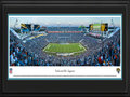 Picture: This 13.5 X 40 panorama has been professionally double matted in team colors and framed to 18 X 44. It captures a Florida football showdown between the Jacksonville Jaguars and the Miami Dolphins. The Jaguars entered the NFL in 1995 as the first expansion team in almost 20 years. The team played its first regular season game on September 3, 1995, showcasing many of the players who would go on to lead Jacksonville to excellence over the next several years. In the franchise�s third season, the Jaguars went on to top the AFC division with an 11-5 record, and won their first AFC Championship title in 1998, making them the first NFL expansion team to make the playoffs three times in its first four seasons of play. From the NFL Stadiums collection.