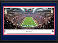Picture: This 13.5 X 40 panorama of Reliant Stadium has been professionally double matted in team colors and framed to 18 X 44. It captures a pivotal moment for the Houston Texans during their 19-13 win over the Cincinnati Bengals in the AFC Wild Card round of the NFL playoffs. When the Houston Oilers departed the city after the 1996 season, many fans thought the NFL would never return. But in 1999, the NFL awarded Houston the 32nd franchise. The Texans began play on September 8, 2002, at Reliant Stadium, the first retractable roof stadium in the NFL. It was a magical night for the Texans as they beat the Dallas Cowboys 19-10. Fast-forward 10+ years and Texans' fans continue to pack Reliant Stadium, week after week, year after year. From the NFL Stadiums collection.
