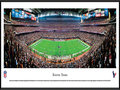Picture: This panorama of the Houston Texans playing to their home crowd at Reliant Stadium has been professionally framed to 13.75 X 40.25. Reliant Stadium opened for business in 2002, and the Texans made their regular season debut against the Dallas Cowboys. On that day, they unveiled a gameday atmosphere that would become a staple of Texans football games. The first NFL stadium with a retractable roof, Reliant Stadium has earned a reputation as one of the premier big-event venues in American sports, hosting Big 12 Championship games, NCAA Men's Basketball tournaments, the annual Texas Bowl and Super Bowl XXXVIII. From the NFL Stadiums collection.
