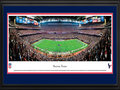 Picture: This 13.5 X 40 panorama of the Houston Texans playing to their home crowd at Reliant Stadium has been professionally double matted in team colors and framed to 18 X 44. Reliant Stadium opened for business in 2002, and the Texans made their regular season debut against the Dallas Cowboys. On that day, they unveiled a gameday atmosphere that would become a staple of Texans football games. The first NFL stadium with a retractable roof, Reliant Stadium has earned a reputation as one of the premier big-event venues in American sports, hosting Big 12 Championship games, NCAA Men's Basketball tournaments, the annual Texas Bowl and Super Bowl XXXVIII. From the NFL Stadiums collection.
