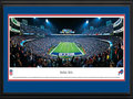 Picture: This 13.5 X 40 panorama of Ralph Wilson Stadium has been professionally double matted in team colors and framed to 18 X 44. It captures the excitement as the Buffalo Bills NFL football team beat division rival, the Miami Dolphins. The Bills began competitive play in 1960 as a charter member of the American Football League (AFL) and joined the NFL as part of the AFL-NFL merger in 1970. The Bills won two consecutive AFL Championships in 1964 and 1965. The Buffalo Bills are the only team in NFL history to play in four consecutive Super Bowl games. From the NFL Stadiums collection.