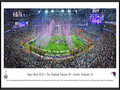 Picture: This panorama has been professionally framed to 13.75 X 40.25. It spotlights a thrilling victory, as the New England Patriots defeat the Seattle Seahawks and win their fourth Super Bowl in franchise history. In the final 12 minutes of the game, the Patriots turned the tables and rallied from a 10-point deficit. To seal the deal, a stunning interception by an undrafted rookie preserved New England�s 28-24 lead. It was one of the most sensational fourth quarter rallies on record and, after four crazy quarters, the night went to New England, with the Patriots and fans basking in the glory of victory. From the NFL Stadiums collection.