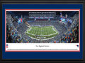 Picture: This 13.5 X 40 panorama has been professionally double matted in team colors and framed to 18 X 44. It captures the excitement of one of the greatest comebacks in Patriots franchise history, during one of the coldest home games ever played at Gillette Stadium � a frigid duel led by two future Hall of Fame quarterbacks. The New England Patriots battle the Denver Broncos, down 24-0 at the half, and manage to fight back, scoring 31 unanswered points to take the game into overtime. With less than two minutes to play and a tie looking probable, the Patriots recover a Broncos botched punt return at the 13-yard line and kick a 31-yard field goal to seal an amazing, come-from-behind 34-31 victory. From the NFL Stadiums collection.