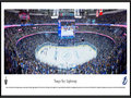 Picture: This panorama of Amalie Arena has been professionally framed to 13.75 X 40.25. It captures a glorious moment in time, as the Tampa Bay Lightning score an electrifying goal in the Eastern Conference Final against the New York Rangers, in front of over 19,000 elated fans. The Lightning would go on to dismiss the Rangers from the National Hockey League postseason in a memorable 7-game series, shutting them out in both Games 5 and 7 in New York, to win the Conference championship and advance to the Stanley Cup® Final - their first since winning the Cup in 2004.