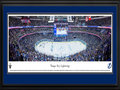 Picture: This 13.5 X 40 panorama of Amalie Arena has been professionally double matted in team colors and framed to 18 X 44. It captures a glorious moment in time, as the Tampa Bay Lightning score an electrifying goal in the Eastern Conference Final against the New York Rangers, in front of over 19,000 elated fans. The Lightning would go on to dismiss the Rangers from the National Hockey League postseason in a memorable 7-game series, shutting them out in both Games 5 and 7 in New York, to win the Conference championship and advance to the Stanley Cup® Final - their first since winning the Cup in 2004.